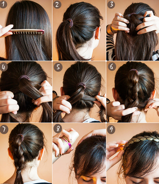 Braiding extensions in short hair