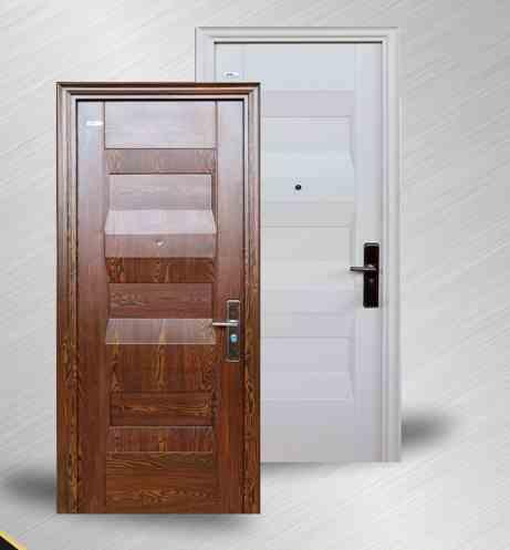 Pintu rumah minimalis modern bahan baja