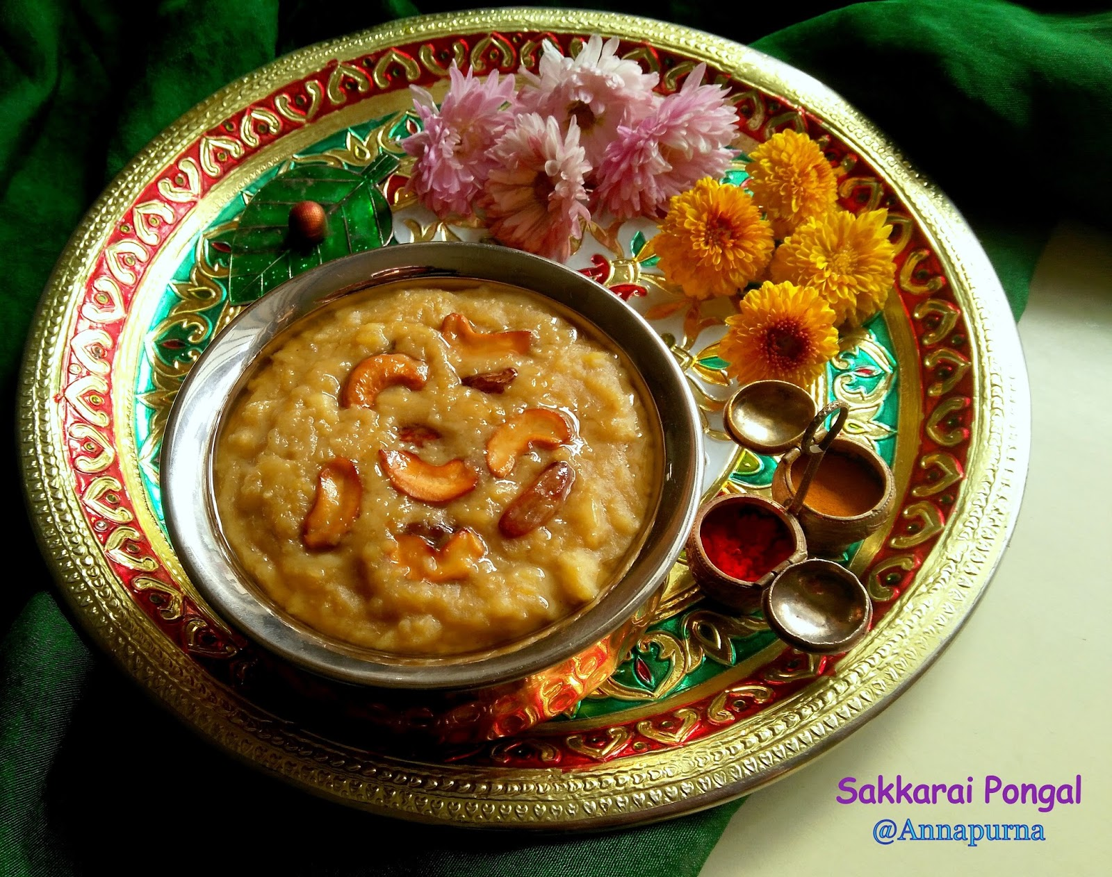 Annapurna Sakkarai Pongal The Sweet Pongal Recipe