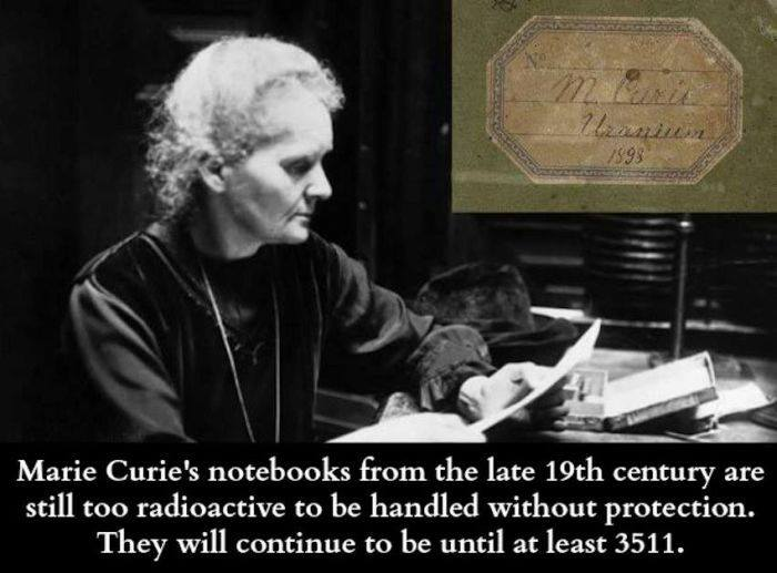 Amazing Posts: Marie Curie's Notebooks Are Still Radioactive