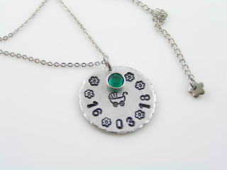 Baby Birth Date Necklace Gift for Mum