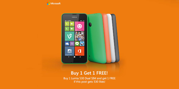 Here's how you can buy a Nokia Lumia 530 in Singapore and get one free