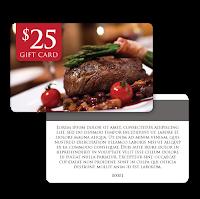 Restaurant Gift Cards from Printingworx