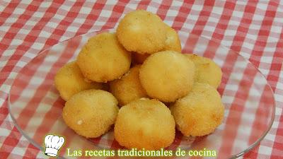 Receta de bolitas de queso muy cremosas y crujientes