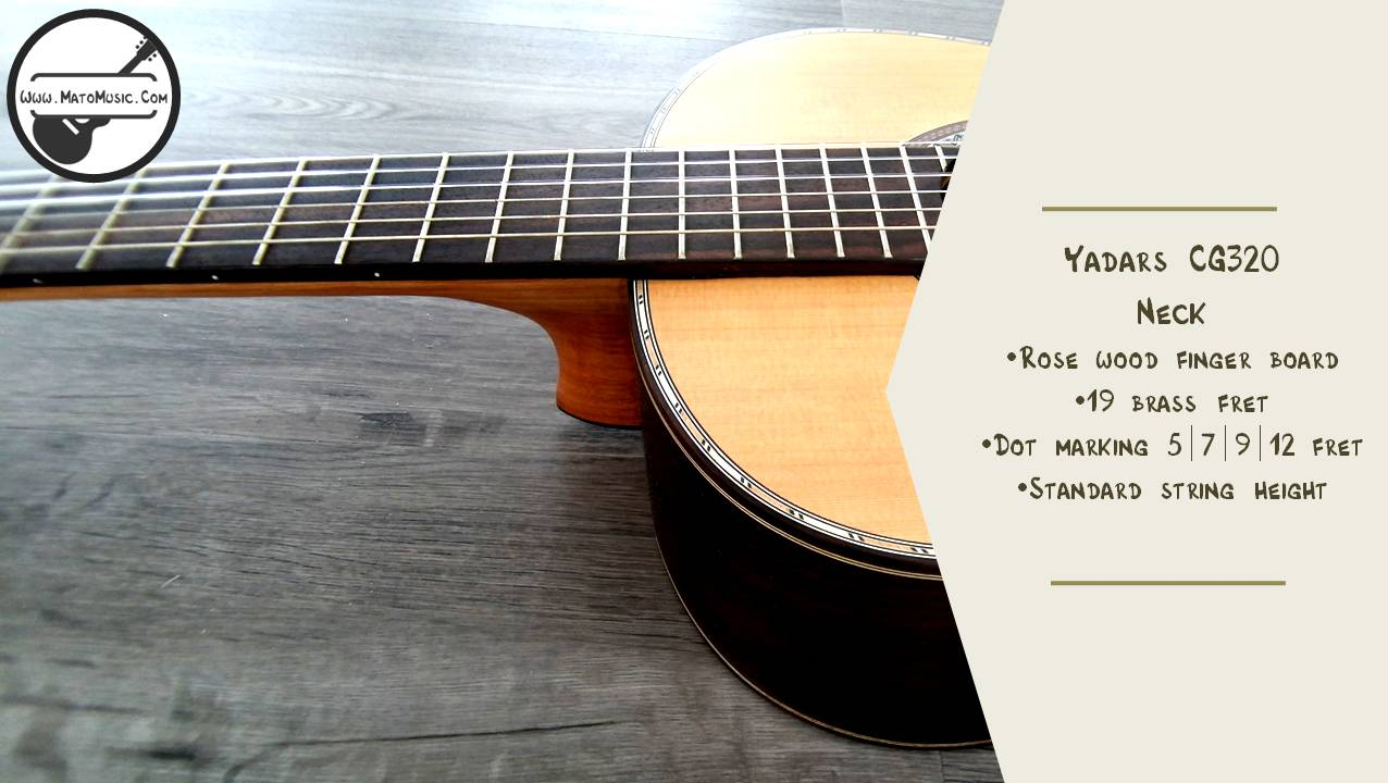 Yadars CG320 Classical Guitar With Solid Cedar Top Specification 03