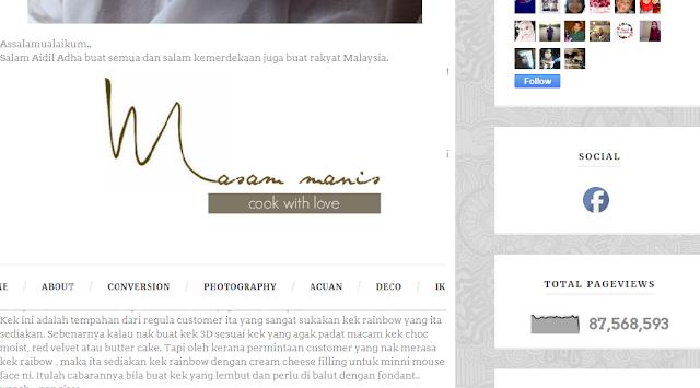 Senarai Blog Resepi Malaysia Yang Mempunyai Jutaan Pageview