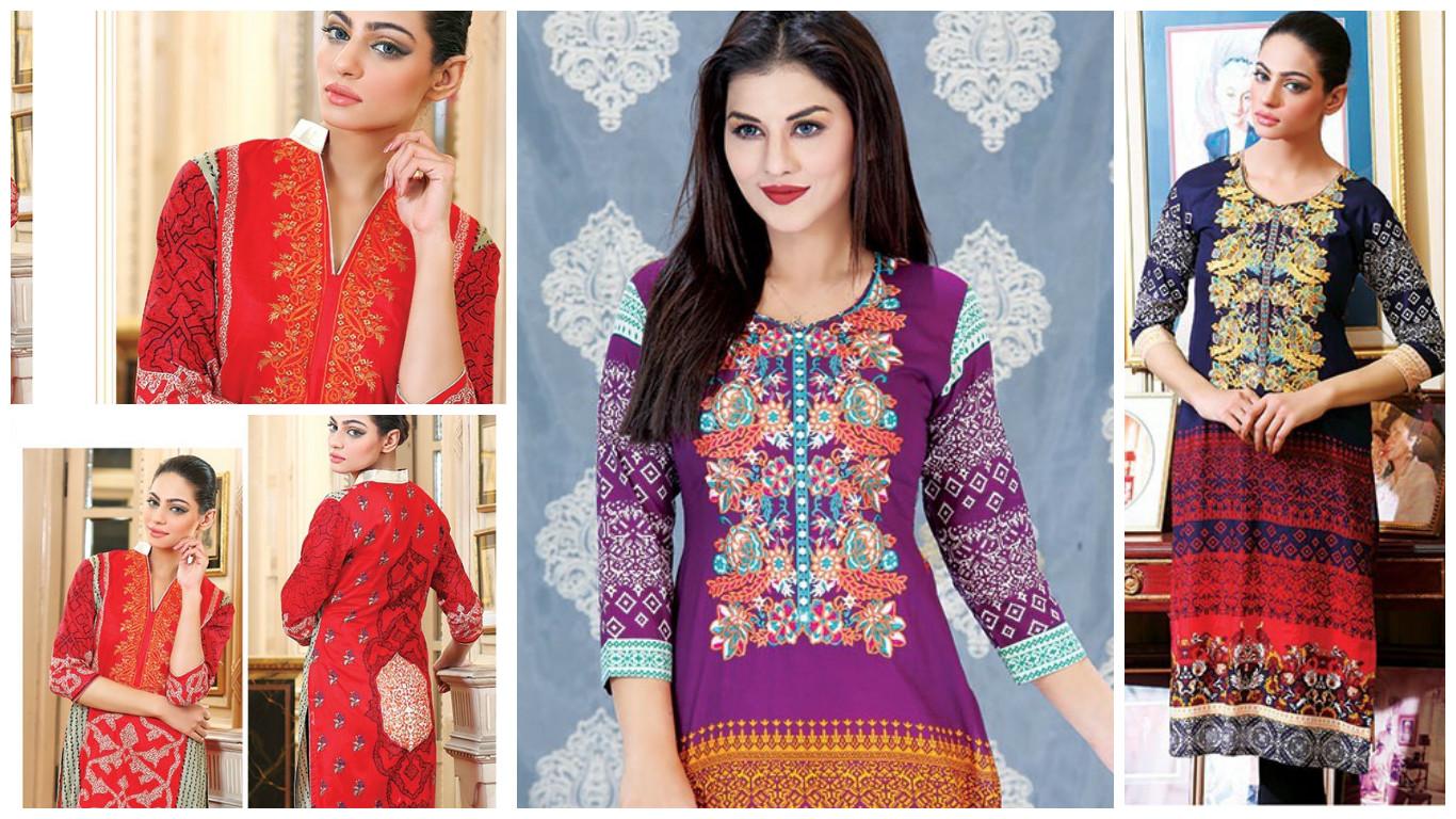 Buy pakistani lawn suits online batik kurti pakistani for Bano market faisalabad dresses