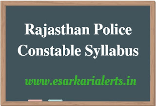 Rajasthan Police Constable Syllabus 2017