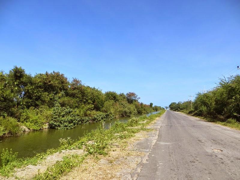 речка вдоль дороги