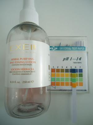 ph de Tónico de Hammamelis de Exel
