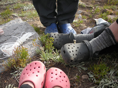 Crocs for backpacking