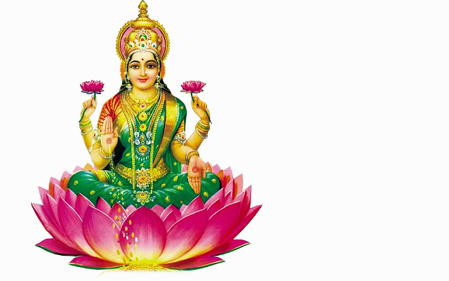 Maa Lakshmi  Wallpaper In White Background