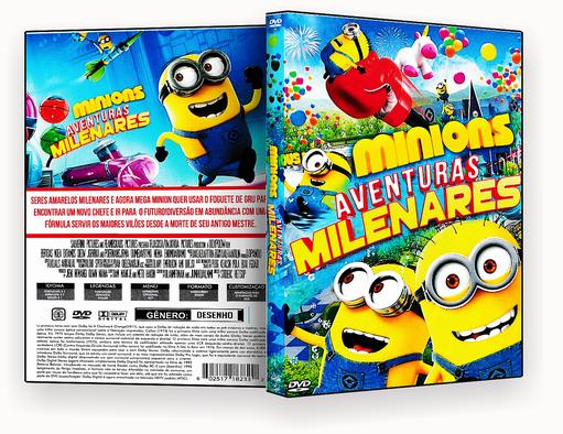 CAPA DVD – MINIONS AVENTURAS MILENARES (2018) DVD-R