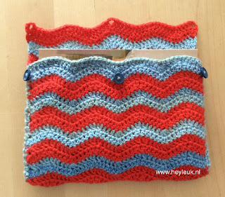 haakpatroon booksleeve chevron