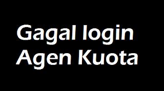 Gagal login Aplikasi Agen Pulsa Kuota ? Ini Penyebabnya
