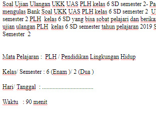 Soal-UKK-UAS-PLH-kelas-6-SD-semester-2