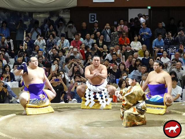 Cérémonie du yokozuna Harumafuji à Kyoto