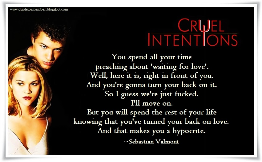 Share this Rating Title Cruel Intentions 1999 68 10 Want to share IMDbs rating on your own site Use the HTML below