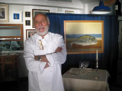 Luciano Zazzeri - proud owner and chef of Michelin starred restaurant La Pineta