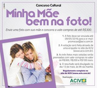 "Concurso Cultural ""Minha Mãe bem na foto"""
