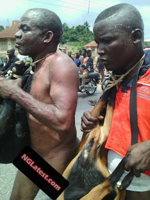 Mob humiliates two men nabbed with stolen goats at Ondo State