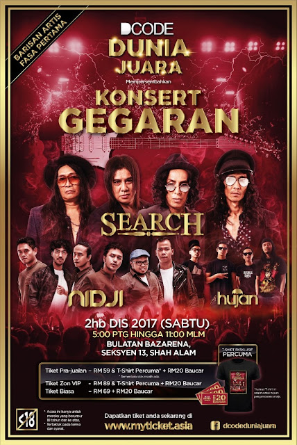 Event Konsert Gegaran Search Nidji Hujan | 02122017