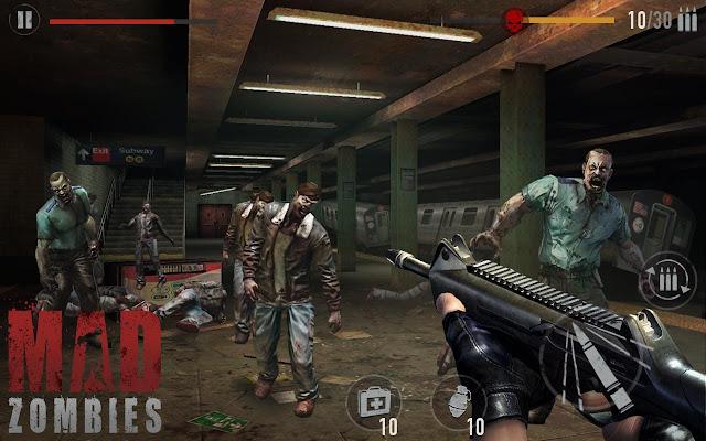 لعبة Mad Zombies mod 5.13.1 مهكرة اموال للاندرويد