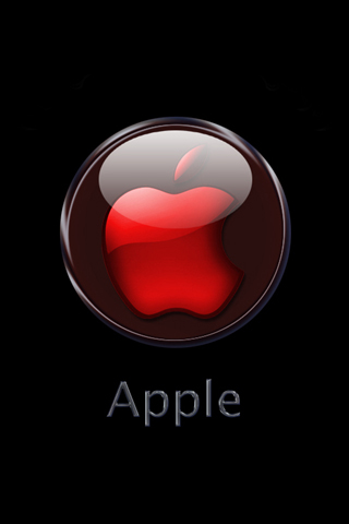 Hd Iphone Wallpaper Red Crystal Apple Logo
