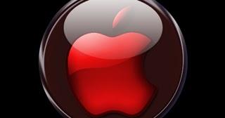 Hd Iphone Wallpaper Red Crystal Apple Logo
