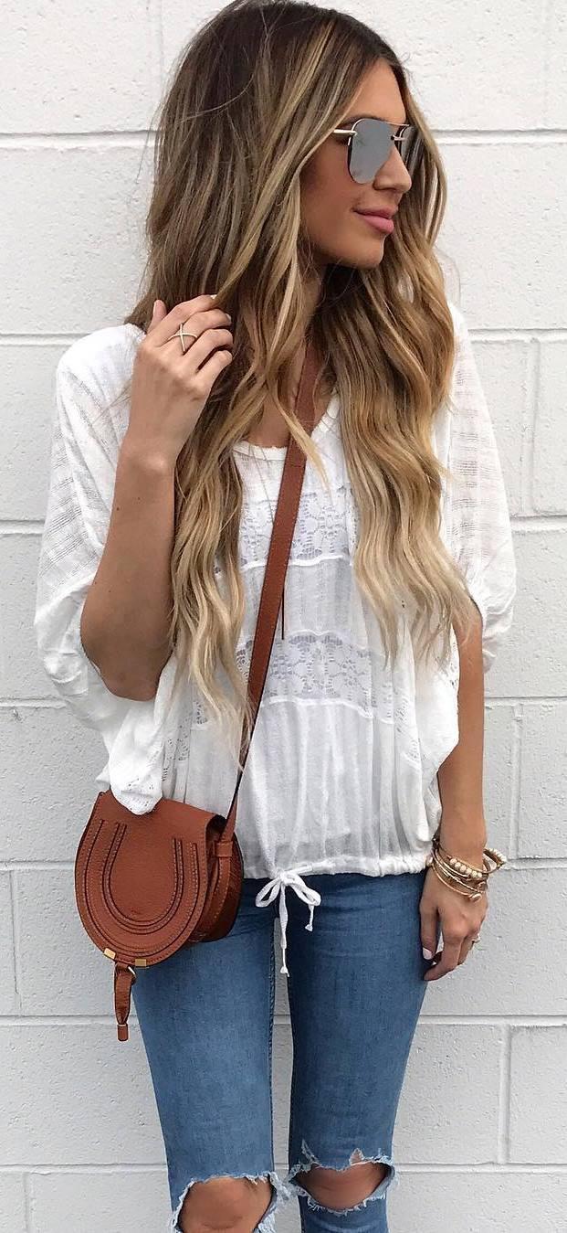 ootd: top + bag + jeans