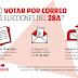 Que nadie se quede sin votar: información importante sobre el voto por correo y el voto rogado para residentes en el extranjero.