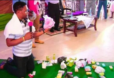 LOL! Pastor Prays On Ladies Bathing Soap To Entice Men
