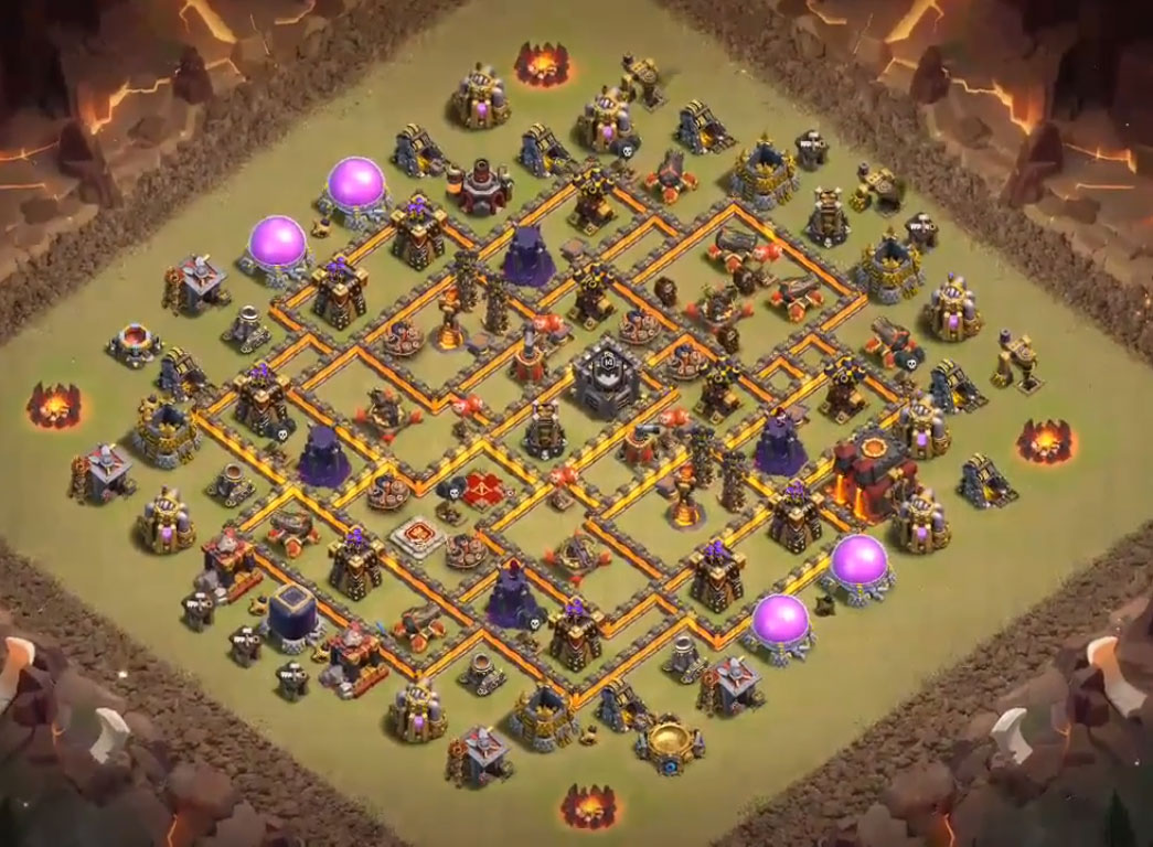 anti 3 stars th10 war base anti hog riders
