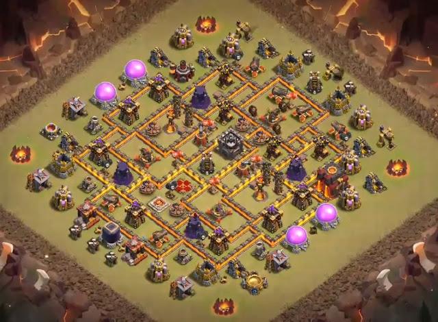 anti 3 stars th10 war base anti hog riders