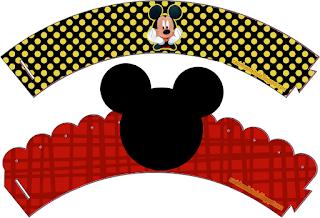 Bello Mini Kit para Fiesta de Cumpleaños de Mickey Mouse para Imprimir Gratis.
