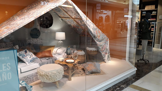 Glamping reaches window displays!