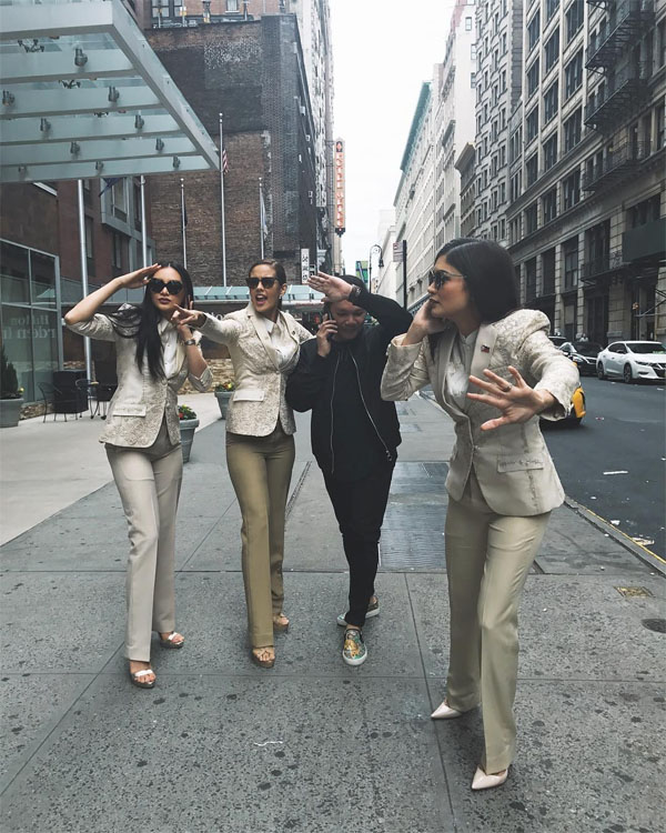 "Megan Young, Kylie Verzosa, and Pia Wurtzbach act out security escorts for the ""Queenmaker"""