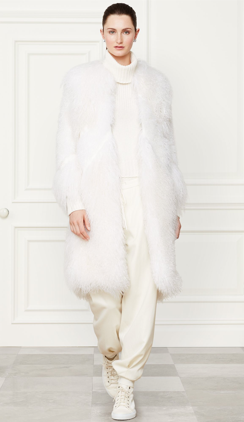 Ralph Lauren Shearling Elizabeth Coat Fall 2014 Collection