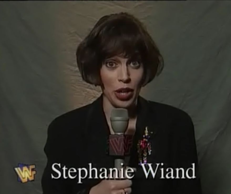 WWF / WWE - King of the Ring 1995 - Stephanie Wiand introduced our last qualifying match between Savio Vega and IRS