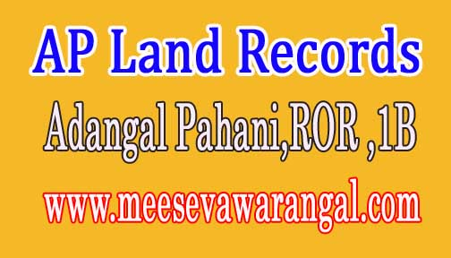 AP Adangal, ROR 1B, FMB, Village map Download at meebhoomi.ap.gov.in