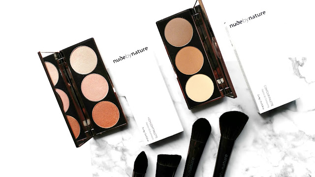 Nude By Nature Contour Palette Review, Nude By Nature Highlight Palette Review