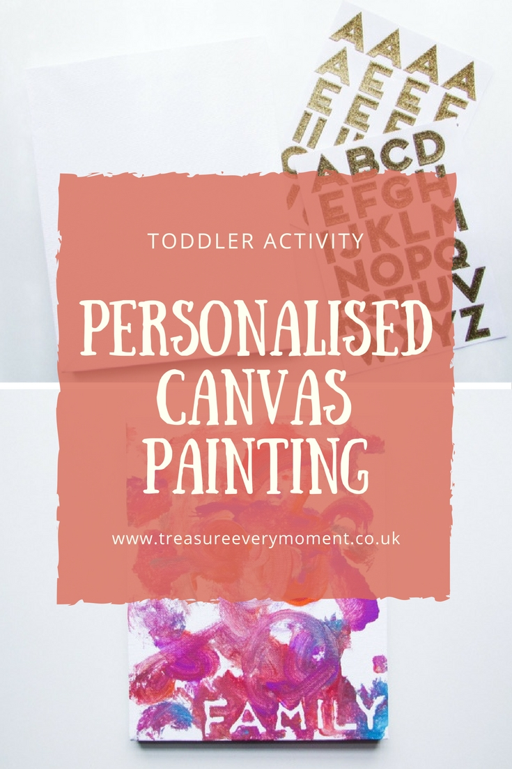 TODDLER ACTIVITY: Personalised Canvas Painting