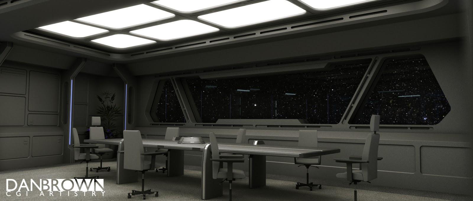 Dan Brown Cgi Sci Fi Art Adamant Interior Conference Room Wip