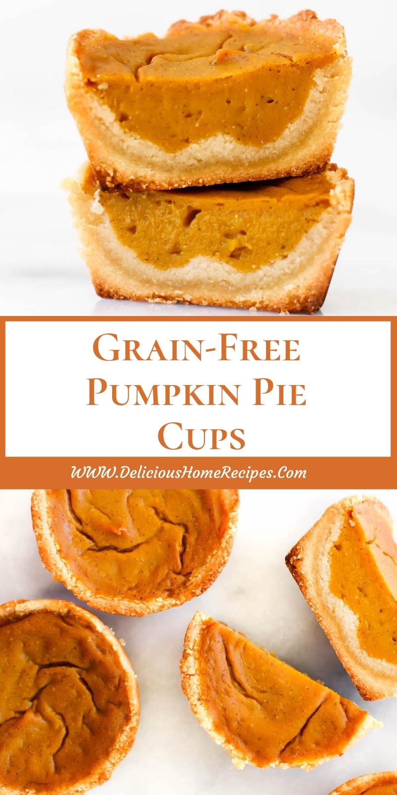 Grain-Free Pumpkin Pie Cups