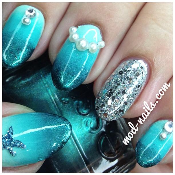 Mermaid Nail Art Acrylic Nails: ModNails: May 2013
