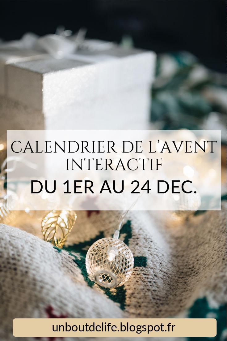 Calendrier de l'Avent interactif freebies printable gift