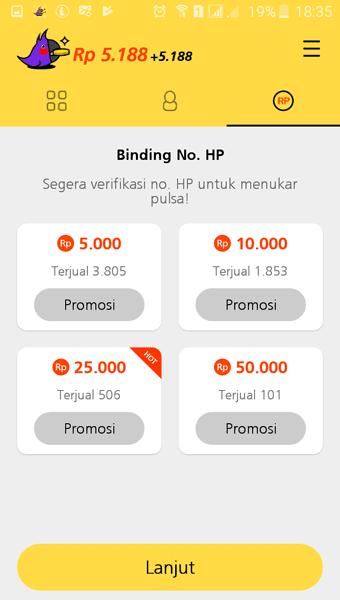 Konfirm HP casheasy
