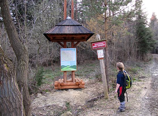 Granica Magurskiego Parku Narodowego.