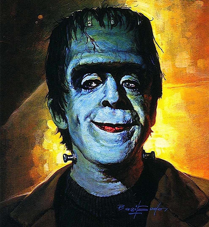 a Basil Gogos illustration of Herman Munster smiling