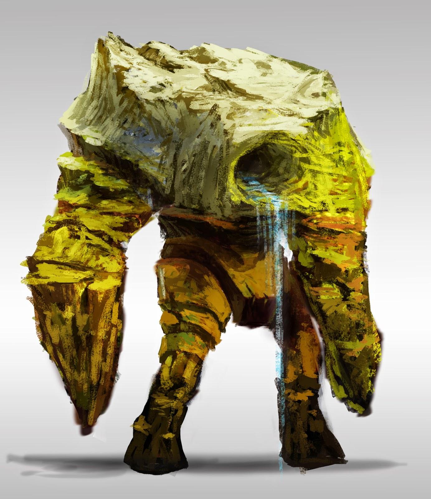 douglas deri,concept art,mountain, mountain creature, floresta, game, sci-fi, spirit of forest,douglas deri,how to paint, photoshop brushes, brushes, how to draw, como desenhar,